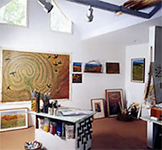 The studio of Carol MacDonald, Printmaker, Colchester, Vermont